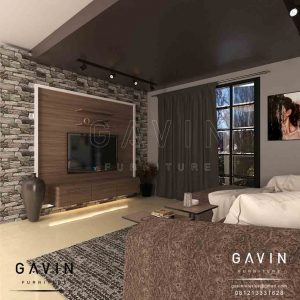 gambar backdrop tv minimalis modern project di Pejompongan by Gavin Q2878