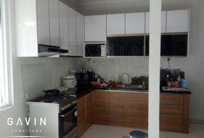harga lemari dapur finishing HPL supreme 2219 glossy kombinasi TH 360 H Q2899