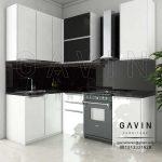 Kitchen Set Gantung Minimalis Modern 2018 Finishing HPL Project Di Depok Q2964