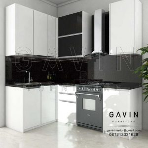 Kitchen Set Gantung Minimalis Modern 2018 Finishing HPL Project Di Depok Q2964
