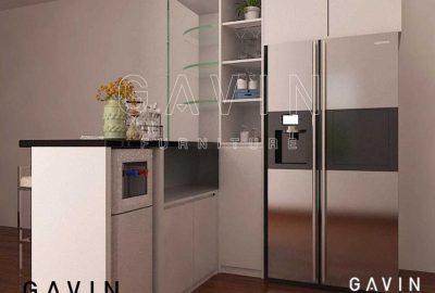 contoh design 3D lemari dapur minimalis modern project ciledug by Gavin Q2841