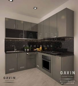 Design Kabinet Dapur Basah Minimalis Modern Finishing Cat Duco Glossy Project Di Casajardin Q2682