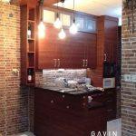 buat lemari dapur dan meja bar minimalis warna coklat project di tanah sereal by gavin Q2945