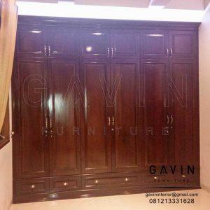 contoh lemari baju klasik finishing melamik di Ragunan Q2952