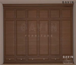contoh lemari baju klasik kayu jati finishing melamik project di Ragunan Q2952