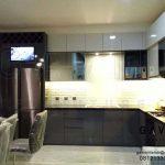 contoh lemari dapur minimalis letter L project di Pamulang by Gavin Q2976