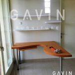 meja belajar desain minimalis dengan kaki besi