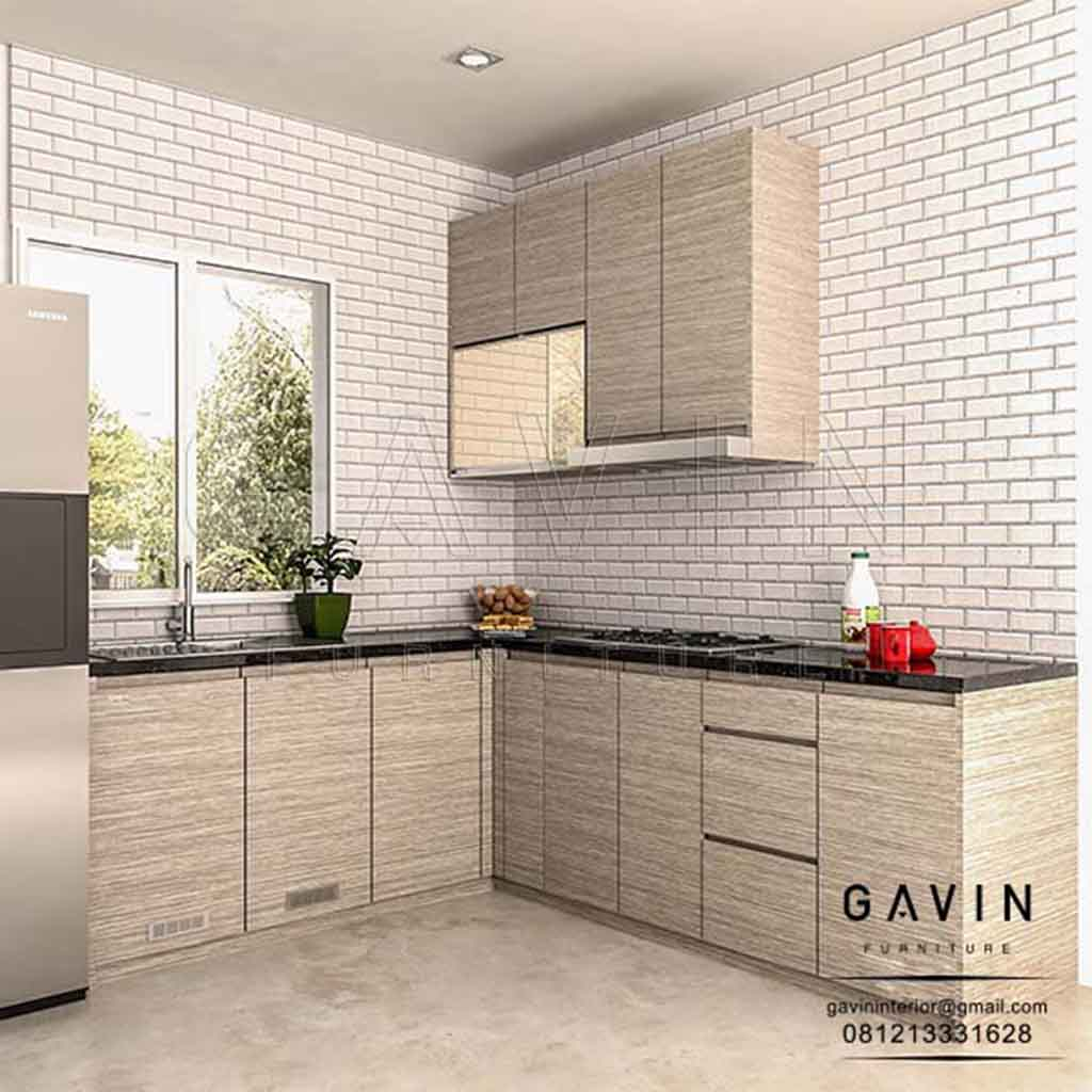 Lemari Dapur Hpl Letter L Project Petukangan Kitchen Set