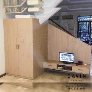 ide lemari bawah tangga dan backdrop finihsing hpl TH 373 H shandy Q3083