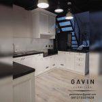 lemari dapur semi klasik finishing duco semi klasik semi glossy letter u Q3108
