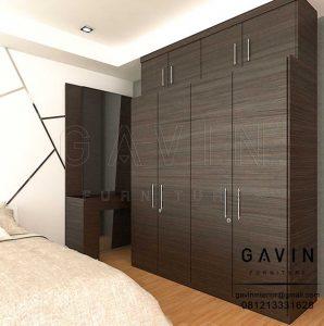 desain lemari pakaian apartemen pintu swing di Jakarta Pusat Q3168