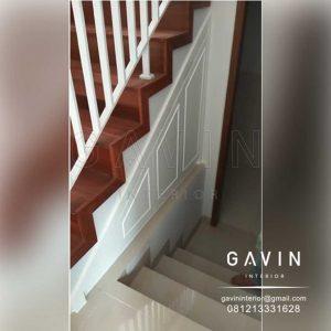 contoh lemari bawah tangga klasik finishing duco semi glossy di Joglo Q3167