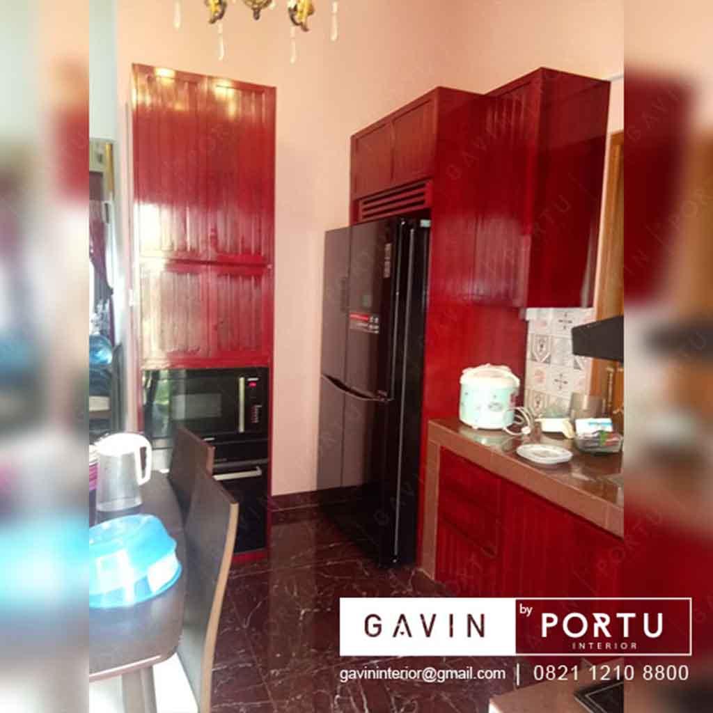 Kitchen Set Kayu Jati Klien Di Komp Ddn Pondok Labu