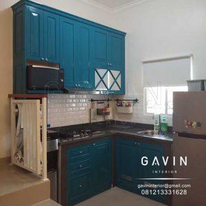 kitchen set model klasik hijau tosca finishing duco semi klasik semi glossy di jagakarsa Q3169