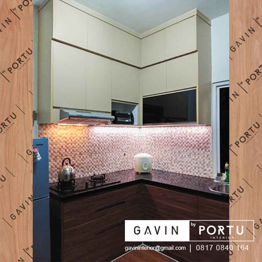 Kitchen Set Warna Coklat: Buat Kitchen Set Dapur Kecil Coklat Di Hj Gari Cluster