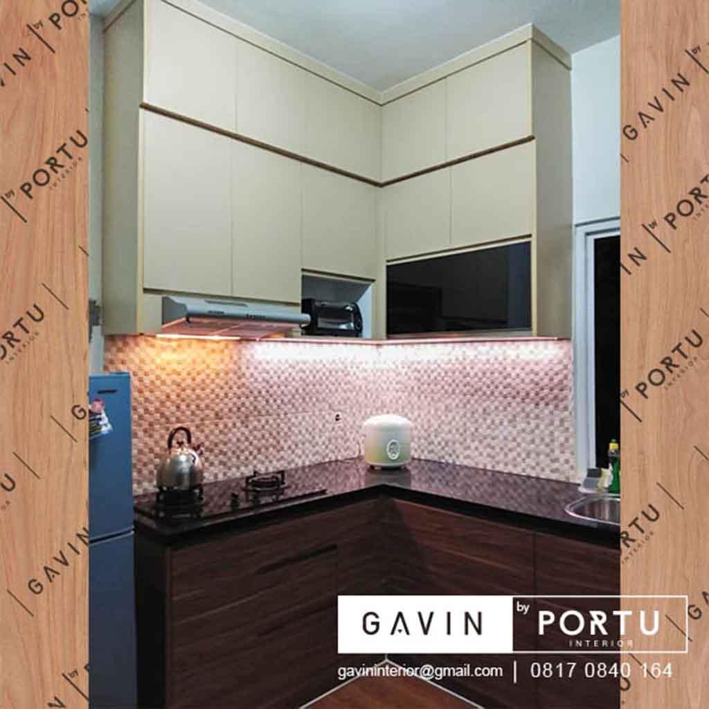 Buat Kitchen Set Dapur Kecil Coklat Di Hj Gari Cluster