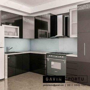 contoh design kitchen set anti rayap finishing cat duco hitamdi Joglo id3230