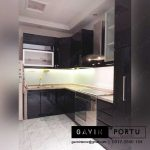 contoh kitchen set anti rayap minimalis duco hitam di Joglo id3230