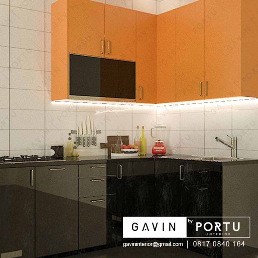 Kitchen Set Warna Orange: Kitchen Set Dapur Mini Kombinasi Warna Greenlake City