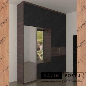 design lemari pakaian pria minimalis hpl di pluit id3234