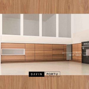 kabinet bawah kitchen design minimalis project di Pluit id3251