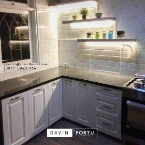 buat kabinet bawah dapur semi klasik di Bintaro by Gavin Furniture id3359