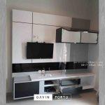 contoh backdrop tv design minimalis modern project di Jagakarsa id3329