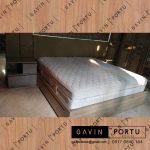 contoh ranjang tempat tidur design minimalis project di Bintaro id3313