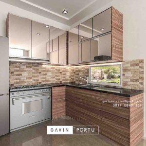 design kitchen set dengan cermin project di pasar minggu id3257