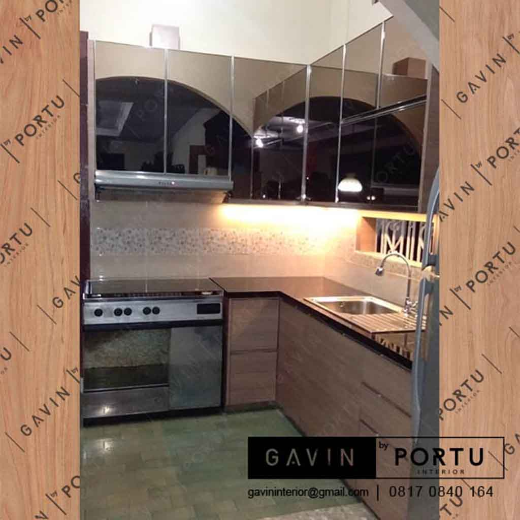 Kitchen Set Dengan Cermin Project Palapa Pasar Minggu Kitchen Set
