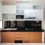 contoh kitchen set minimalis bentuk i project di Bintaro id3488