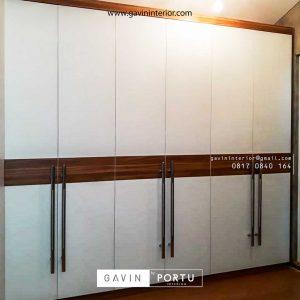 model lemari baju pintu swing minimalis modern project di pamulang id3427
