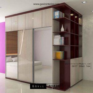 contoh lemari pakaian geser cermin by Gavin Furniture id3177