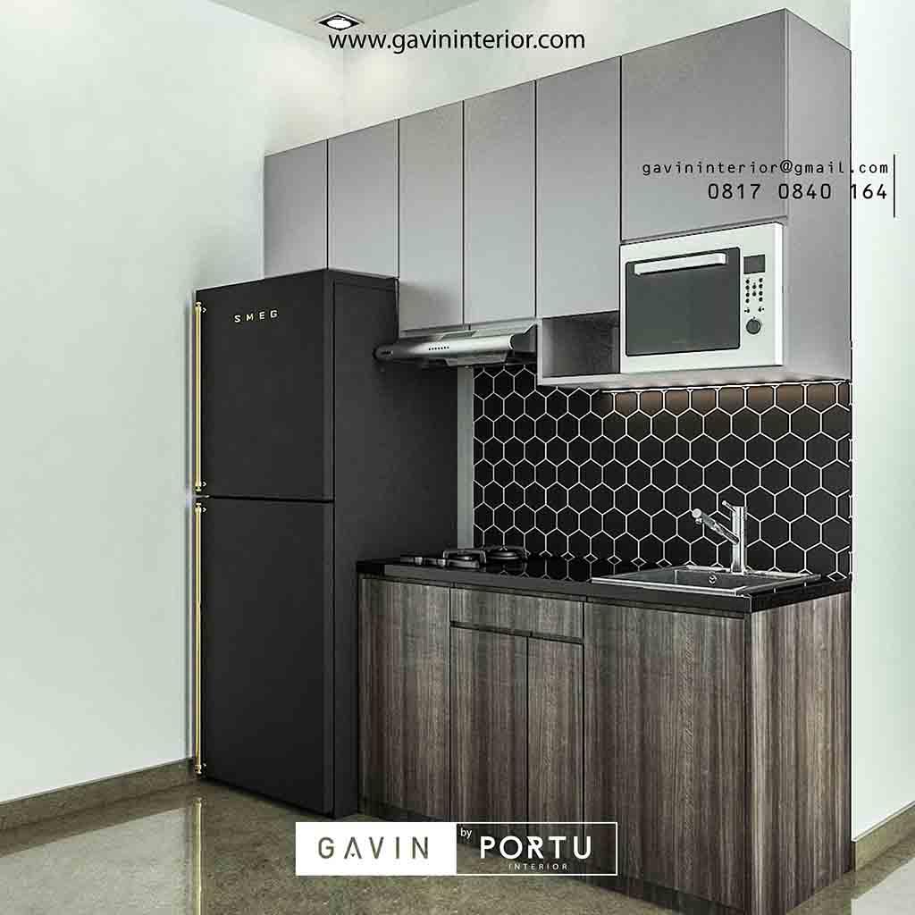 Kitchen Set Jati Minimalis: Kitchen Set Apartemen Green Signature Kramat Jati Jakarta
