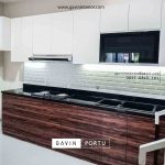kitchen set anti rayap minimalis kombinasi warna di meruya id3428