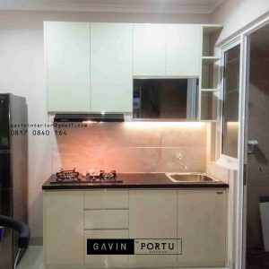 kitchen set mini kombinas cermin hitam project di serpong id3249
