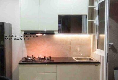 kitchen set mini kombinas cermin hitam project di serpong id3249
