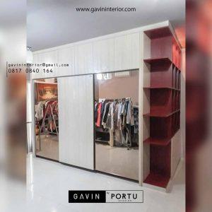 lemari pakaian geser dan buku design minimalis project lebak bulus id3177