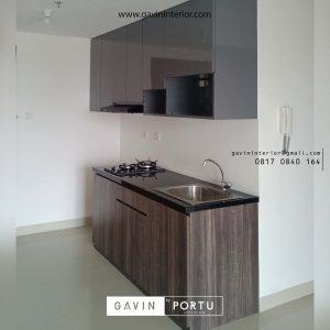 model kitchen set apartemen minimalis grey project di jakarta timur id3454