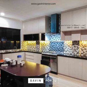 contoh kitchen set letter u minimalis by Gavin Furniture id3414