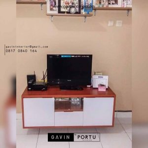 credenza tv minimalis kombinasi warna di kreo id 3345