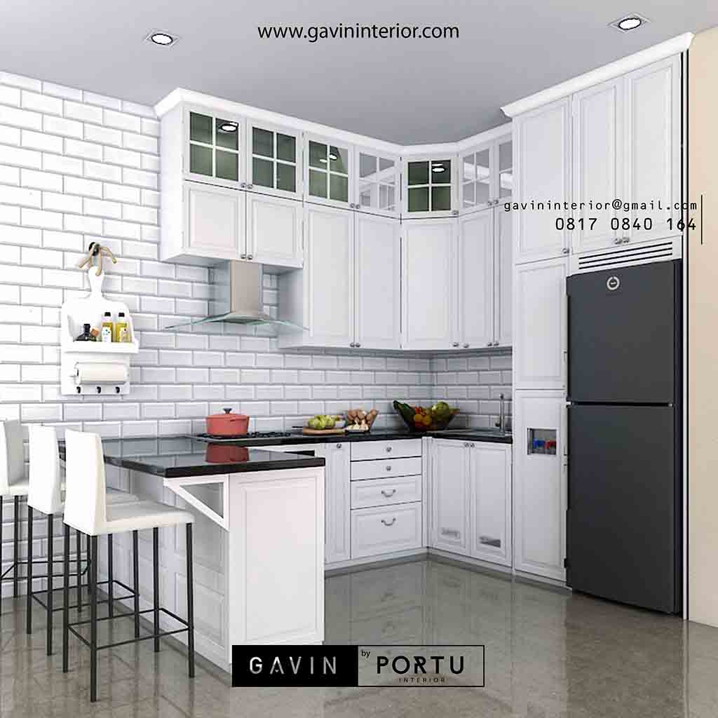 Kitchen Set Warna Coklat: Project Kitchen Set Model Klasik Di Puri Bintaro Indah