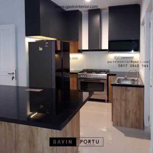 gambar kitchen set motif kayu minimalis di Bogor id3456