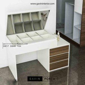 contoh meja rias minimalis dengan meja kerja id3482