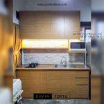 design kitchen set minimalis untuk dapur kecil warna coklat id3498