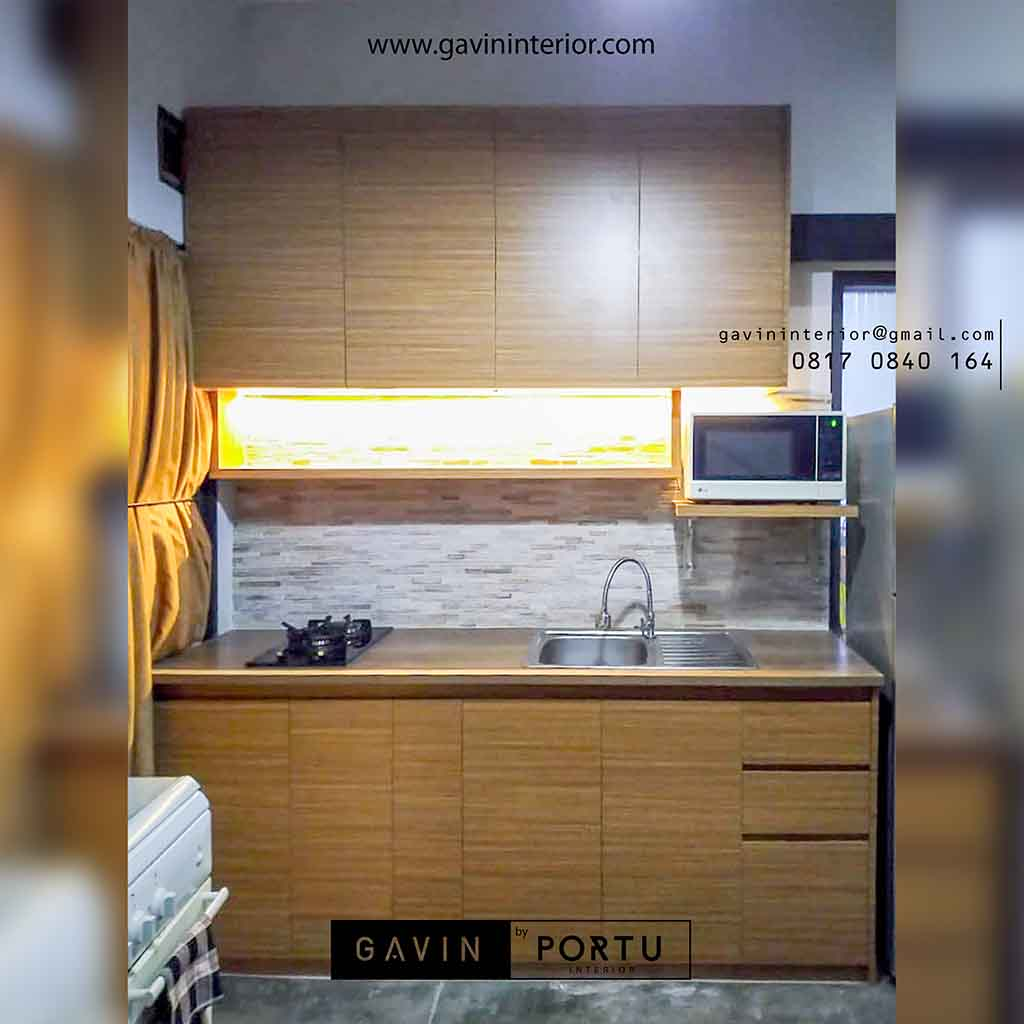 Kitchen Set Warna Coklat: Design Kitchen Set Minimalis Untuk Dapur Kecil Taman