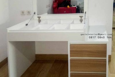 meja rias dan kerja minimalis kombinasi warna id3482