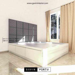 design dipan tempat tidur minimalis di BSD id3540