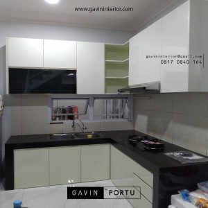 buat kitchen set minimalis model letter L di BSD id3520