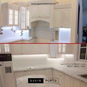 desain kitchen set klasik letter u project di Bintaro id2524